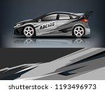 car wrap design. livery design... | Shutterstock .eps vector #1193496973