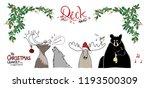 christmas illustration of... | Shutterstock .eps vector #1193500309