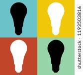 illusion led light bulb shadow... | Shutterstock . vector #1193503816
