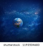 planet earth in outer space... | Shutterstock . vector #1193504683