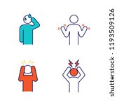 emotional stress color icons... | Shutterstock .eps vector #1193509126