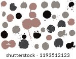 hand drawn set of sepia colored ... | Shutterstock .eps vector #1193512123