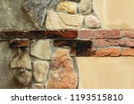 old brick background at... | Shutterstock . vector #1193515810