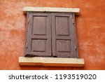 window and brick wall is... | Shutterstock . vector #1193519020