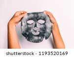 bubble mask woman doing facial... | Shutterstock . vector #1193520169