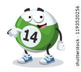 cartoon billiard ball mascot...   Shutterstock .eps vector #1193520256