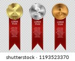 set of gold  bronze and silver. ... | Shutterstock .eps vector #1193523370