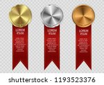 set of gold  bronze and silver. ... | Shutterstock .eps vector #1193523376