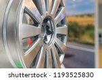 metal disc wheel for the car at ... | Shutterstock . vector #1193525830