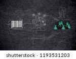 brands working with online... | Shutterstock . vector #1193531203