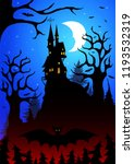 a scary dark forest with a... | Shutterstock .eps vector #1193532319