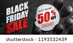 sale banner for black friday... | Shutterstock .eps vector #1193532439