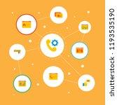 set of development icons flat... | Shutterstock .eps vector #1193535190