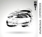 black brush stroke and texture. ... | Shutterstock .eps vector #1193550103