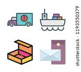 shipment icon set. vector set...   Shutterstock .eps vector #1193550379