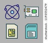 micro icon set. vector set...   Shutterstock .eps vector #1193552479