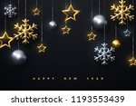 shimmering golden and silver... | Shutterstock .eps vector #1193553439