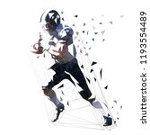 american football player  low... | Shutterstock .eps vector #1193554489
