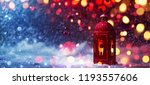 winter decoration with a... | Shutterstock . vector #1193557606