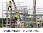 asian construction workers... | Shutterstock . vector #1193558953