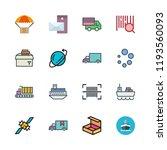 shipment icon set. vector set...   Shutterstock .eps vector #1193560093