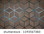 Wooden Cube Background Wall....