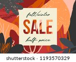 autumn design with abstract... | Shutterstock .eps vector #1193570329