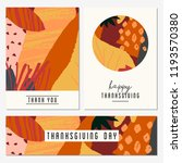 a set of two greeting cards and ... | Shutterstock .eps vector #1193570380