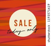 autumn sale design with stripes ... | Shutterstock .eps vector #1193571619