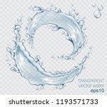 transparent vector water splash ... | Shutterstock .eps vector #1193571733