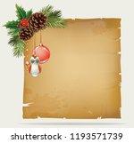 vector branch of christmas tree ... | Shutterstock .eps vector #1193571739