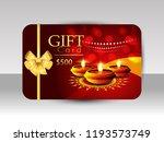 creative festival gift card for ... | Shutterstock .eps vector #1193573749