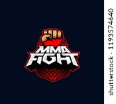 mma fight logo. mixed martial... | Shutterstock .eps vector #1193574640