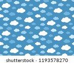 cute clouds pattern. endless...   Shutterstock .eps vector #1193578270