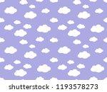 cute clouds pattern. endless...   Shutterstock .eps vector #1193578273