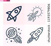 contains such icons as rocket ... | Shutterstock .eps vector #1193579806