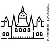 landmark icon of budapest | Shutterstock .eps vector #1193585089