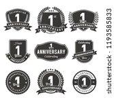 celebration 1 year anniversary... | Shutterstock .eps vector #1193585833