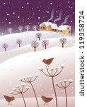 winter and birds | Shutterstock .eps vector #119358724