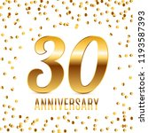 celebrating 30 anniversary... | Shutterstock .eps vector #1193587393