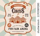 carnival banner. circus. fun... | Shutterstock .eps vector #1193589280