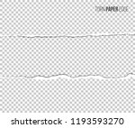 torn paper edge with shadow... | Shutterstock .eps vector #1193593270