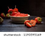 body scrub with strawberry... | Shutterstock . vector #1193595169
