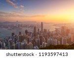 cityscape hong kong city view... | Shutterstock . vector #1193597413