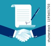 agreement. shaking hands and... | Shutterstock .eps vector #1193601703