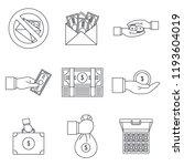 bribery corrupt practices icon...   Shutterstock .eps vector #1193604019
