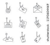 cyber phishing icon set....   Shutterstock .eps vector #1193604469