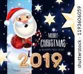 2019 new year   merry christmas ... | Shutterstock .eps vector #1193606059