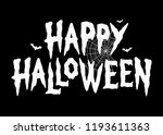 happy halloween bats spider web ... | Shutterstock .eps vector #1193611363