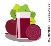 juice of beet on white... | Shutterstock .eps vector #1193614393